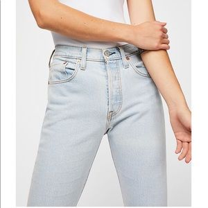 Levi's Jeans - Free People x Levi's • Wedgie 501 Jeans